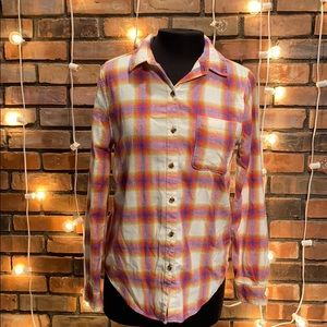 Aeropostale Light Pink Flannel Button Up Shirt S